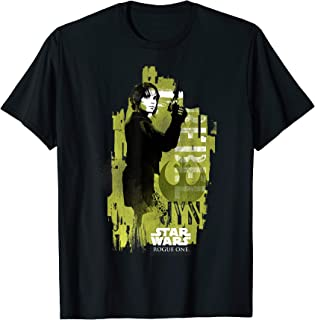 Star Wars Rogue One Jyn Erso Grunge Profile Graphic T-Shirt