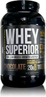 JBN: #1 Whey Superior Protein Powder: Pasture-Based Whey Isolate and Whey Concentrate, Gluten-Free, Non-GMO, 20G of Protein, Delicious Taste, Lean Muscle, Weight-Loss, 3rd Party Tested