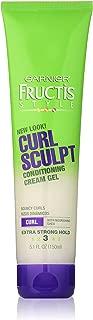 Garnier Fructis Style Curl Sculpt Conditioning Cream Gel, Curly Hair, 5.1 fl. oz.