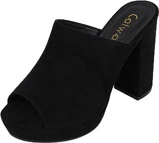 Catwalk Women's Open Toe Slip On Sandals