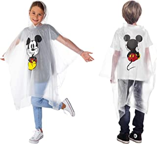Mickey or Minnie Mouse Rain Poncho Hoodie Front Back Print Adult or Youth