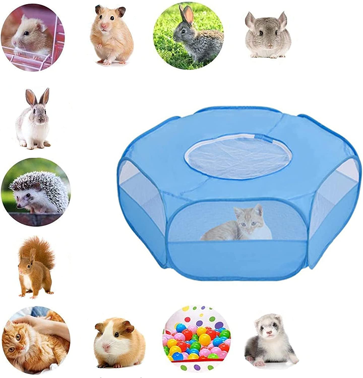 Mantouxixi Small Animal Playpen Pet Cage Cover Esc with Max 48% OFF Anti Now on sale Top