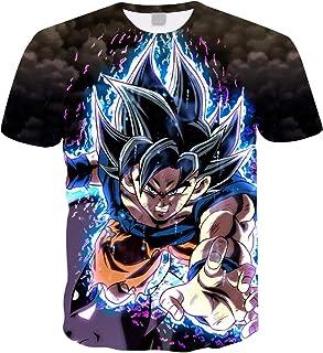 Camiseta Dragon Ball Niño 3D Impresión Hombres Mujer Camisetas y Camisas Unisex Deportivas Camisetas de Manga Corta Dibujo...