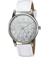 Steve Madden - Diamond Dial Leather Watch