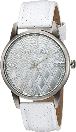 Diamond Dial Leather Watch