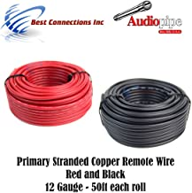 Pure Copper Primary Wire for Car Audio Speaker Amplifier Remote 12 Volt DC Automotive Trailer Harness Hookup Wiring 10 feet Red 10 ft Black Combo GS Power 12 AWG American Wire Gauge