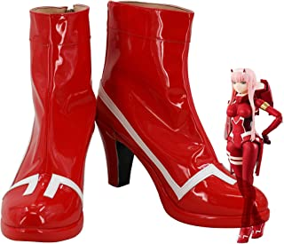 Darling in The FRANXX Code 02 Zero Two Battle Suit Cosplay Shoes Costume Boots Custom Made
