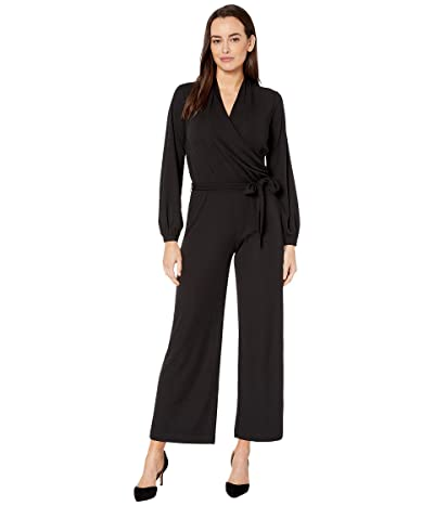 LAUREN Ralph Lauren Jersey Wide-Leg Jumpsuit (Polo Black) Women