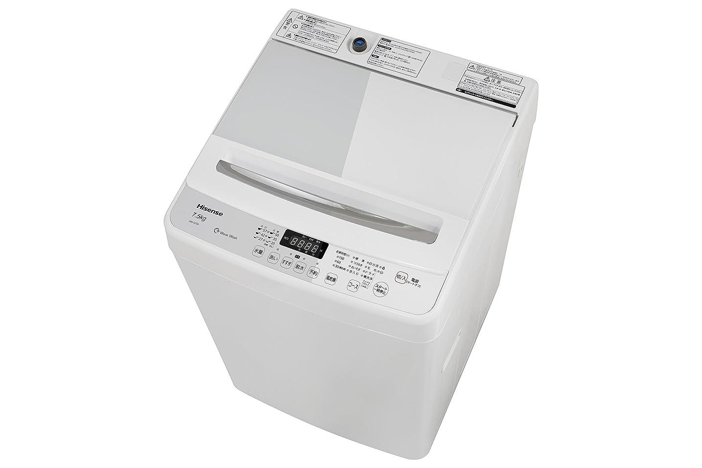 締め切り航空天ハイセンス 最短10分で洗濯できる 全自動洗濯機 7.5kg HW-G75A