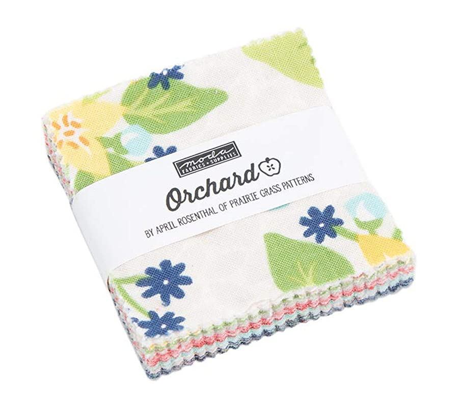Orchard Mini Charm Pack by April Rosenthal of Prairie Grass Patterns; 42-2.5 Inch Precut Fabric Quilt Squares