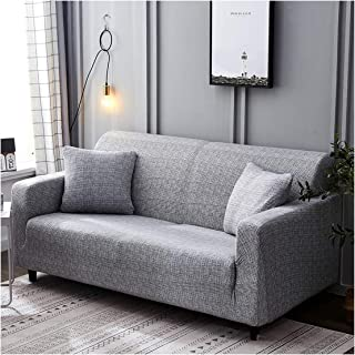 1Pc Leaf/Flower Sofa Cover Cotton Elastic Sofa Slipcovers Corner Sofa Towel Couch Cover for Living Room,Color 10,3-Seater 190-230Cm
