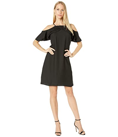 Nicole Miller Cold Shoulder Dress (Black) Women