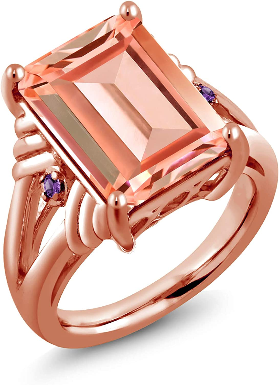 Gem Stone King 6.34 Ct Peach Purple Amethyst Max 77% OFF Morganite low-pricing Nano 18K
