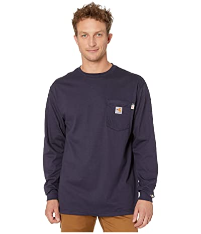 Carhartt Flame-Resistant (FR) Force Cotton Long Sleeve T-Shirt (Dark Navy) Men