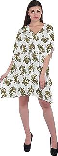 RADANYA Paisley Women's Swimwear Kaftans Swimsuit Cover Up Caftan Beach Short Dress