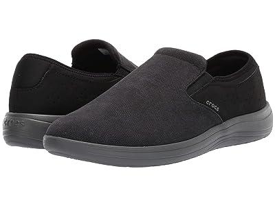 Crocs Reviva Canvas Slip-On (Black/Slate Grey) Men