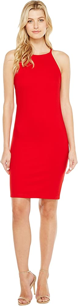 Christin Michaels - Sigrid High Neck Spaghetti Strap Dress
