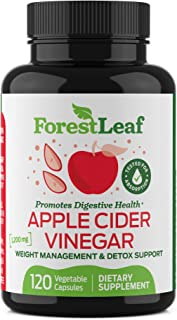 Organic Apple Cider Vinegar Pills - 1200mg, with Cayenne Pepper Powder - 100% All Natural - Supports Digestion and Gut Hea...