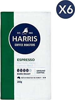Harris Espresso Ground Coffee - Roasted in Sydney (200g x 6 Packs)