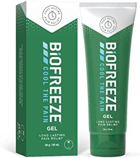 Biofreeze Pain Relieving Gel, 59 ml Tube, Cooling Topical