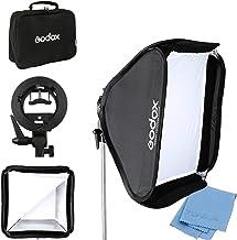 "Godox 24""x 24"" 60cmx60cm Foldable Universal Softbox with S Style Speedlite Bracket for Flash Bowens Elinchrom Mount Accessories Direction Adjustable"