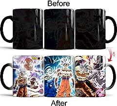 Dragon Ball Super Saiyan Goku Ultra Instinct White Coffee Milk Mug Magic Color Changing Ceramics Cup Heat Sensitive