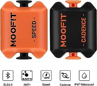 moofit Sensor de Cadencia de Velocidad de Ciclismo con Bluetooth & Ant+ Impermeable Velocidad y Sensor de Cadencia de Bicicleta para iOS, Android