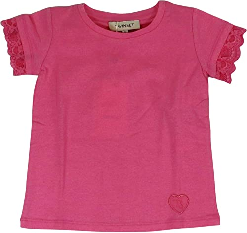 Twin-Set Fille 191GB218003364 Rose Coton T-Shirt