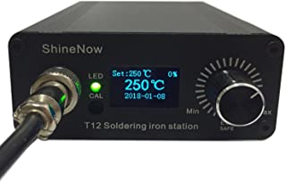 Soldering Iron station Kit,including Digital portable Soldering station Temperature Controller 72W With 2 pcs t12 Tips,1 pcs Solder Wire.