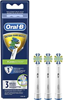Oral-B FlossAction Electric Toothbrush Replacement Brush Heads Refill, 3ct