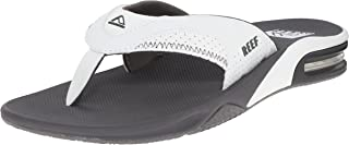 Men's Sandals Fanning | Bottle Opener Flip Flops For Men, Grey/White, 11