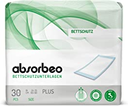 Absorbeo - Bettschutzunterlagen Plus – Bettschutz, 60 x 90 cm 30 Einlagen pro Packung