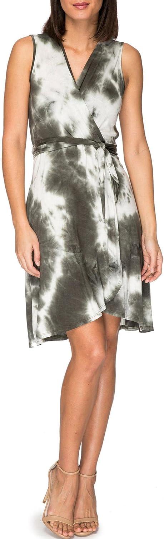 Bobeau Rowan Tie Dye Wrap Dress