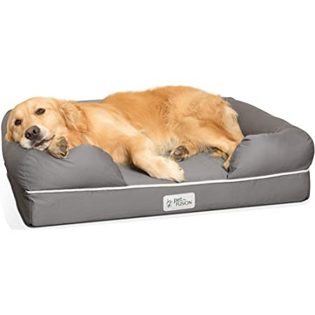 PetFusion Ultimate Dog Bed, Solid CertiPUR-US Orthopedic Memory Foam, Multiple Colors and Sizes, Medium Firmness Pillow, Waterproof Liner, Breathable Bed Cover, Cert. Skin Contact Safe, 3yr Warranty
