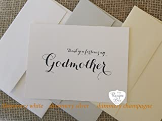 Thank you for being my Godmother, Godparent Gift, Godparent Card, Godmother Card, Godfather Card, Thank you card for Godparents, Choice of 1 Card.