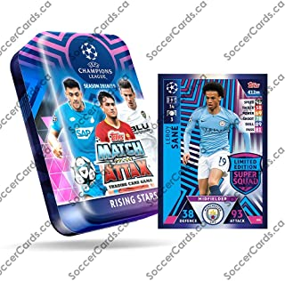 CHAMPIONS LEAGUE 2018-19 Topps Match Attax Cards - Mega Tin (60 Cards, 15 Exclusive Cards + LE Gold Card)