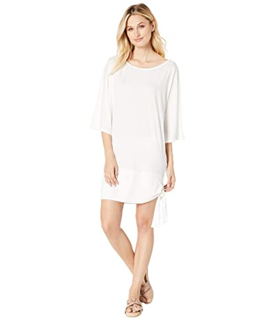 MICHAEL Michael Kors Iconic Solids Side Tie Cover-Up (White) Women