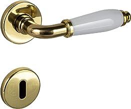 JUVA Deurkruk messing - porselein wit deurbeslag chroom deurgreep kamerdeur | deurklink antiek vintage binnendeuren | deur...