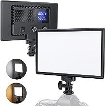 RALENO LED Kamera Video Licht, Eingebauter Wiederaufladbare Batterien 3200K-5600K..
