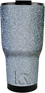 Silver Gloss Glitter Vacuum Insulated Double Wall 30 oz Stainless Steel Tumbler