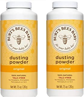Burt's Bees Baby Bee Dusting Powder Bottle, 7.5-Ounce Bottles (Pack of 2)