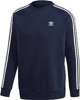 adidas Originals Men's Sweatshirt Crew Neck 3-Stripes Blue cod GH0028