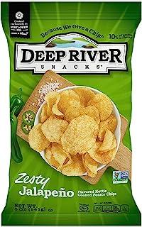 Deep River Snacks Kettle Chips, Zesty Jalapeno, 5 Ounce