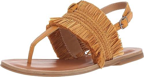 Lucky Brand Wohommes Akerlei Flat Sandal, Saffron, 9.5 M US