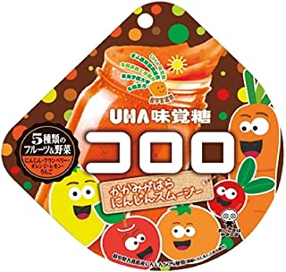 UHA味覚糖 コロロ kororo かかみがはら にんじんスムージー 五種類のフルーツ&野菜 にんじん クランベリー オレンジ レモン りんご グミキャンディ 54g x 3個 ギフトセット ファミリー限定 期間限定
