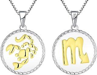 Bijoux Signe du Zodiaque pour Femme ou Adolescente Fille Les Bijoux Acidul/és Collier m/édaille Constellation du B/élier en Acier Inoxydable dor/é et Strass