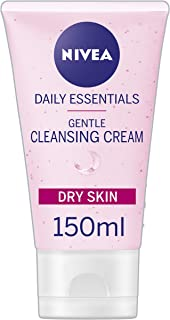 NIVEA Daily Essentials Gentle Cream Face Wash with Natural Almond Oil & Hydra IQ For Dry & Sensitive Skin, 150 ml