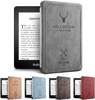 Amazon第10世代Kindle Paperwhite 4ケース 軽 薄 全面保護 電子書籍リーダー保護カバー オートスリープ機能 耐衝撃 KPW4 2018キンドルペーパーホワイト専用 (グレイ)