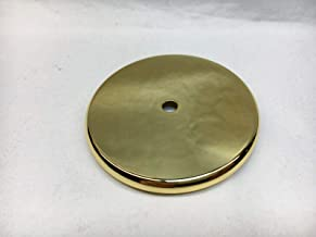 Howard Miller Grandfather Clock Weight Shell Cap Rounded Edge Polished Brass