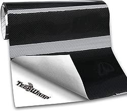 TECKWRAP Gloss Black Ceramic Carbon Fiber Car Wrap Vinyl Bubble Free Air Release 11.5